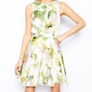 ASOS Love Skater dress in floral
